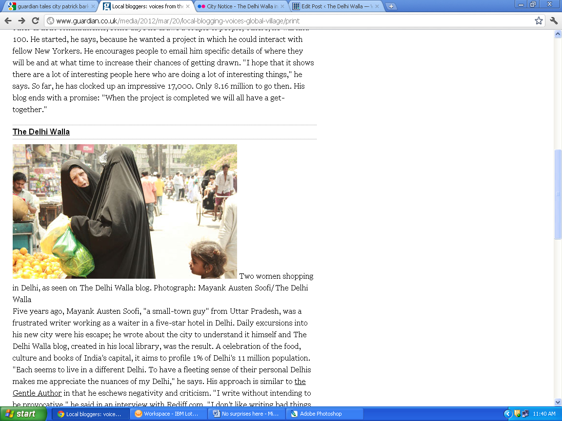 City Notice - The Delhi Walla in the Guardian