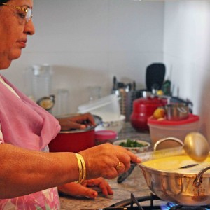 Julia Child in Delhi – Santosh Rani Makes Karhi Pakoda, DLF Park Place