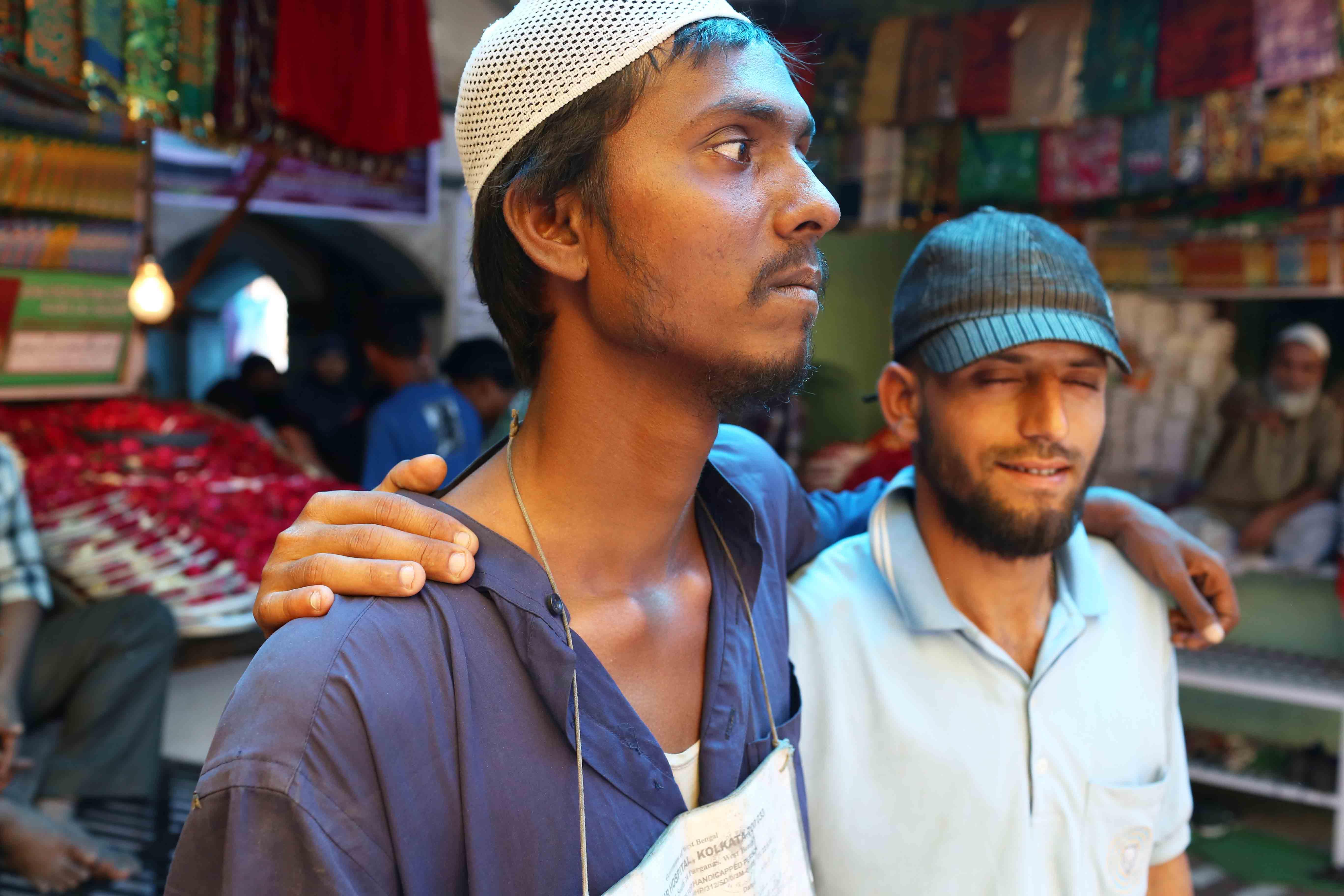 City Moment – Two Friends Walking Together, Hazrat Nizamuddin Basti