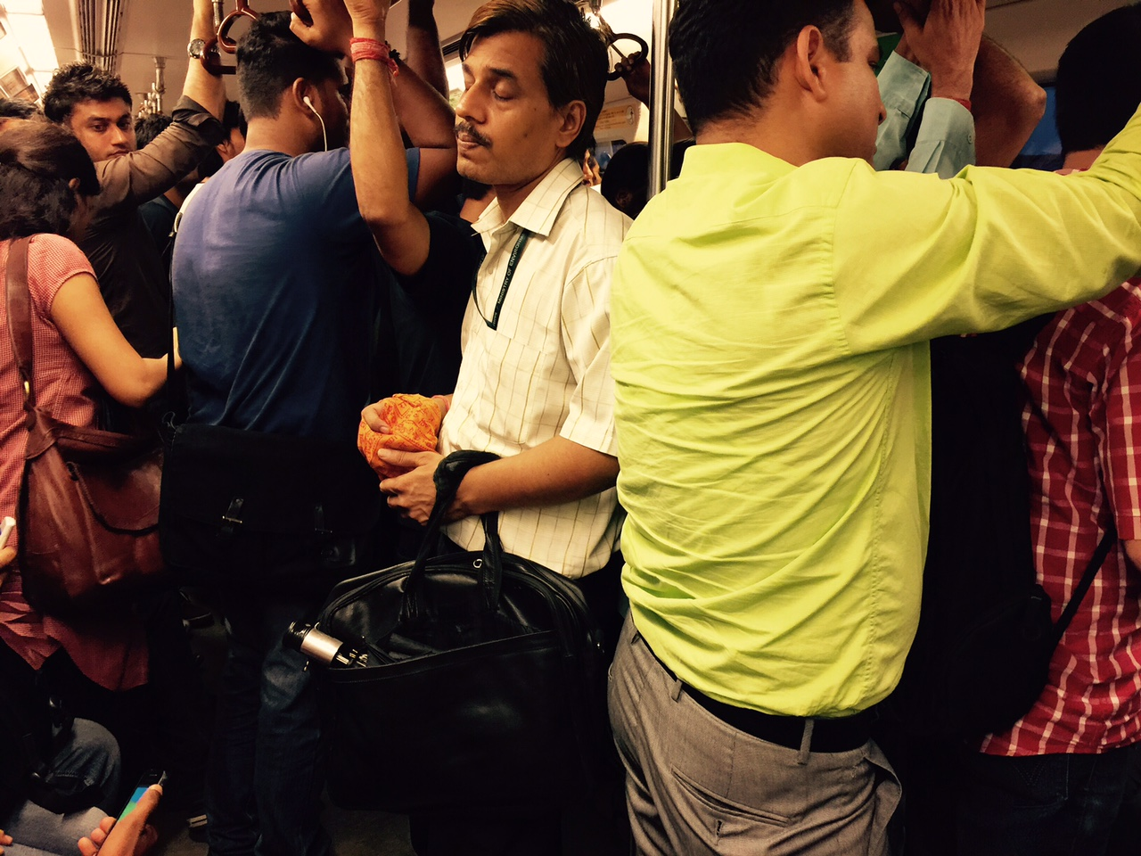 Metro Observed - Inside the Coaches-1, Delhi Subway