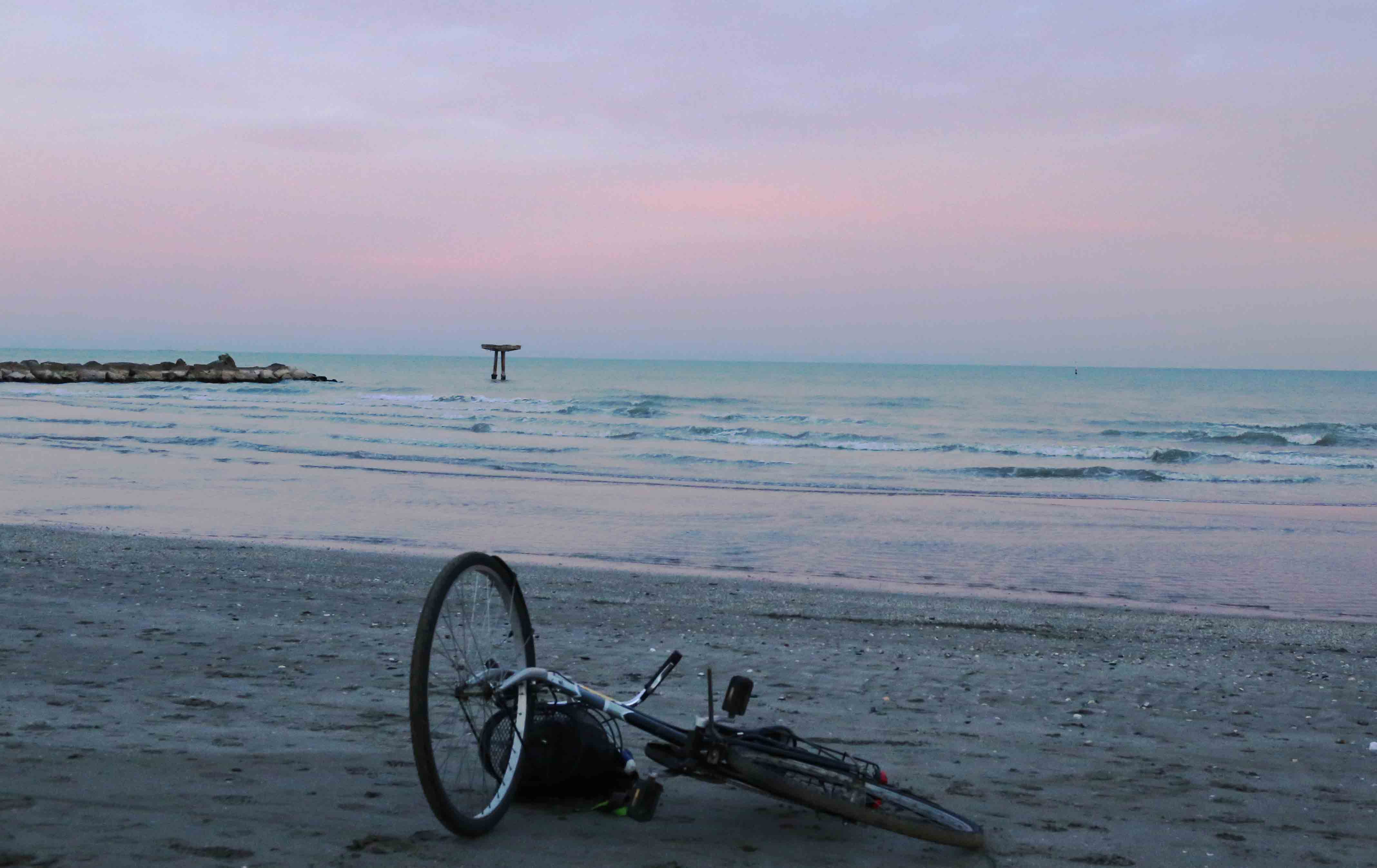 City Moment - A Fallen Bicycle on Thomas Mann's Beach, Venice