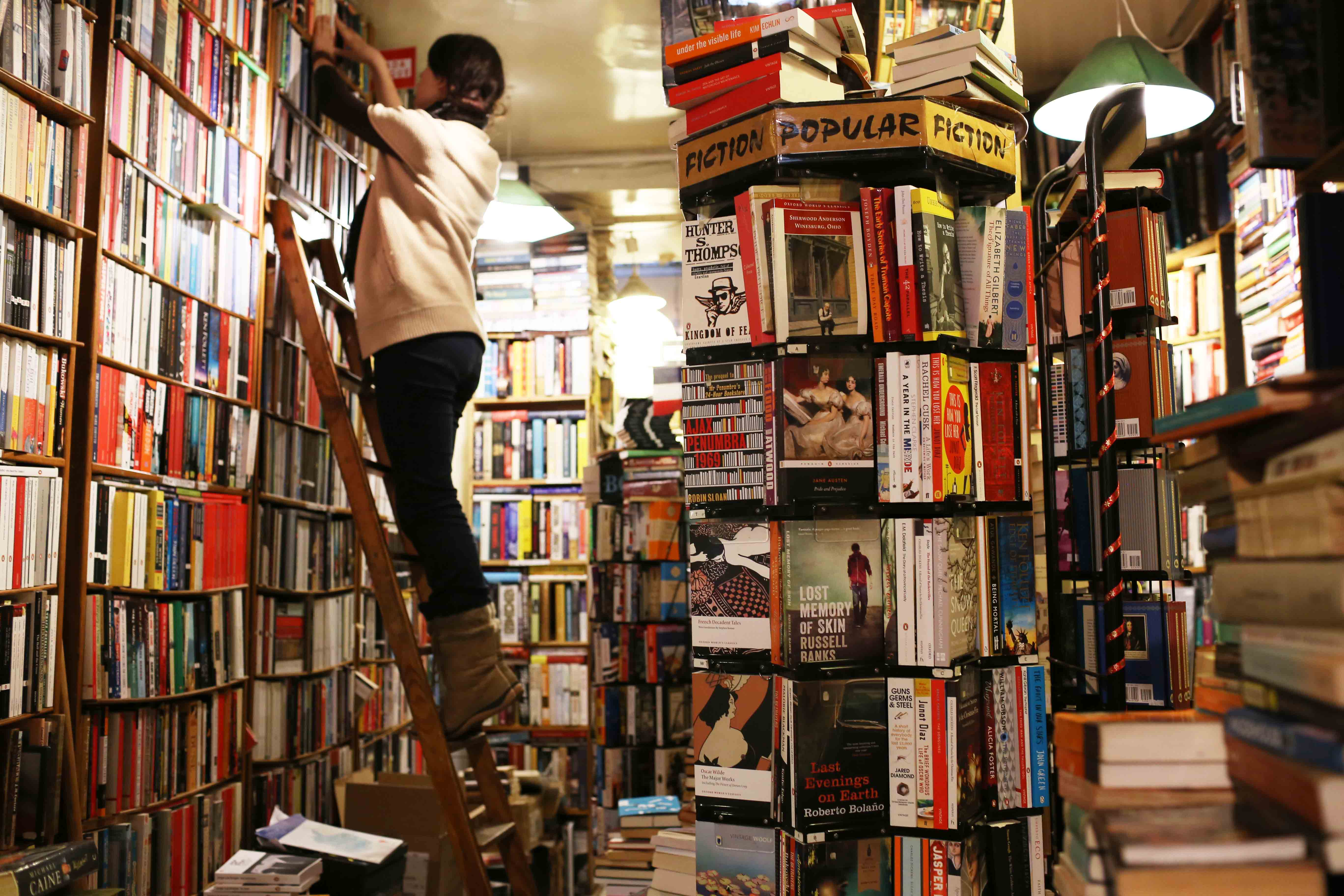 City landmark - The Abbey Bookshop, Rue de la Parcheminerie, Paris