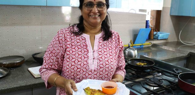 Julia Child in Delhi – Nidhi Rishi Cooks Her Fake Omelette, Raj Nagar, Ghaziabad
