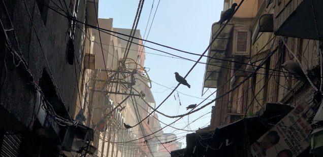 City Life - Cable Art, Old Delhi