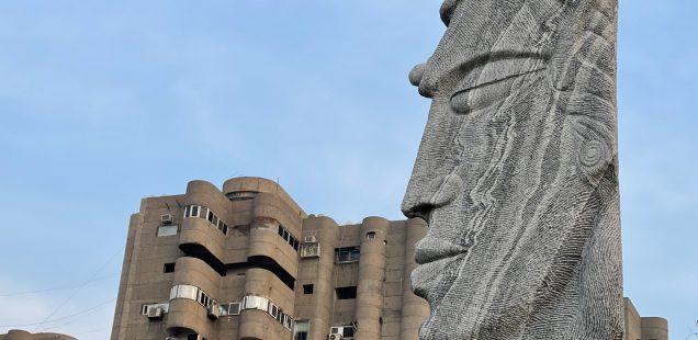 City Landmark - Face of Stoicism, Anand Vihar
