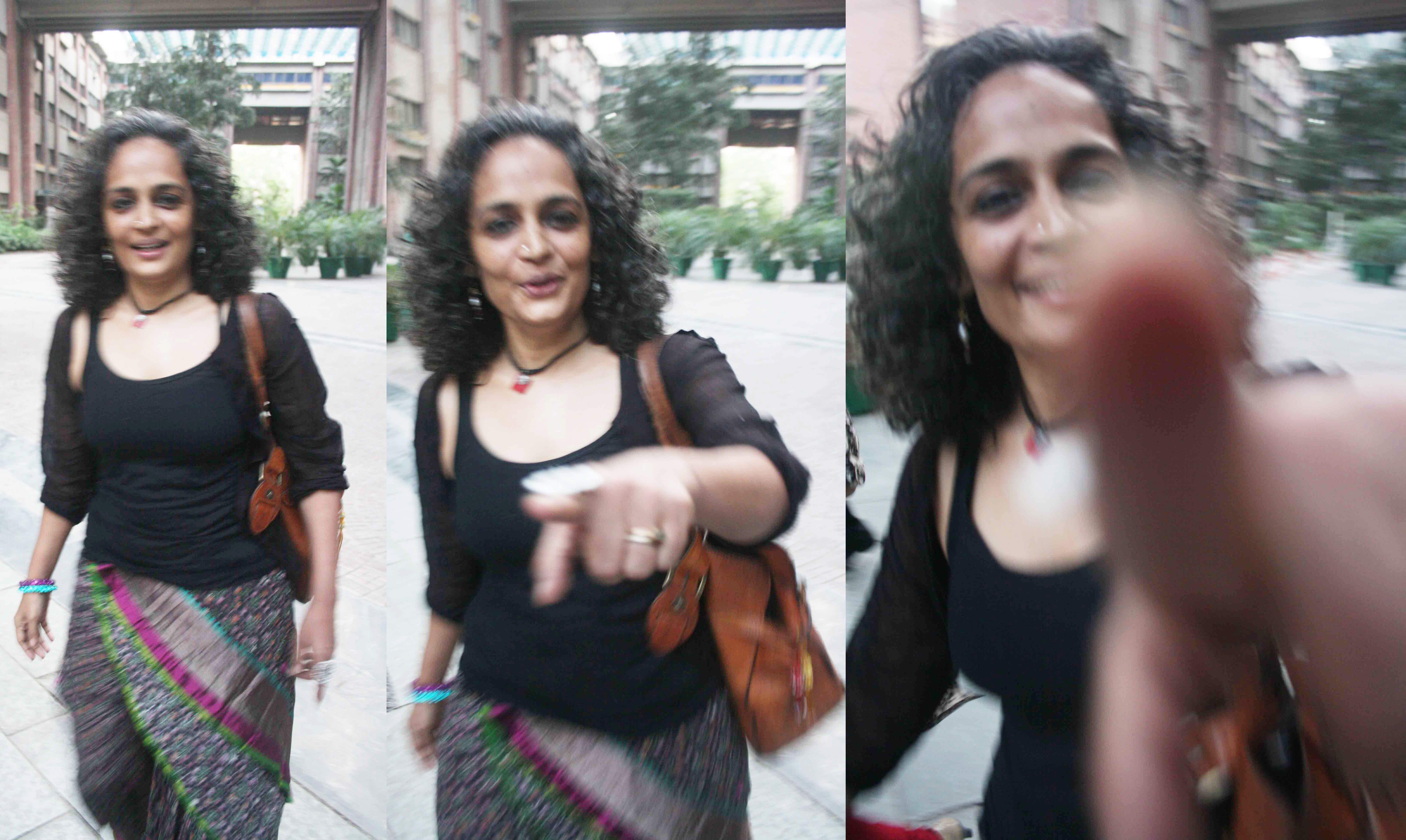 City Sighting – Arundhati Roy, India Habitat Center