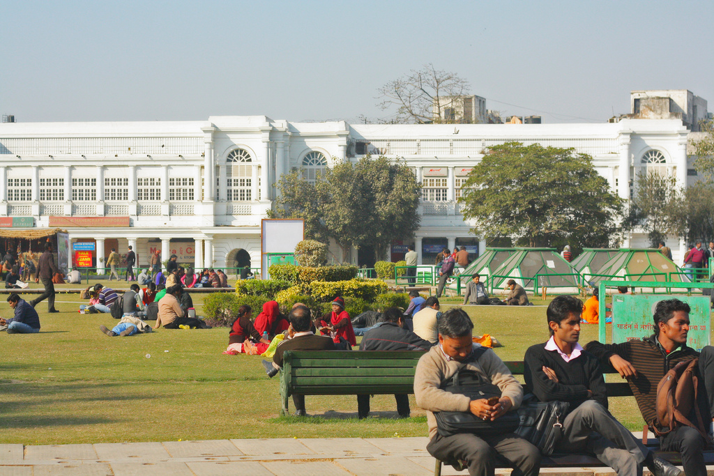 City Season - Winter Sun, Connaught Place