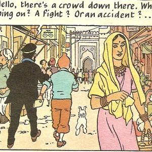 City Books – Tintin in Delhi, Around Town