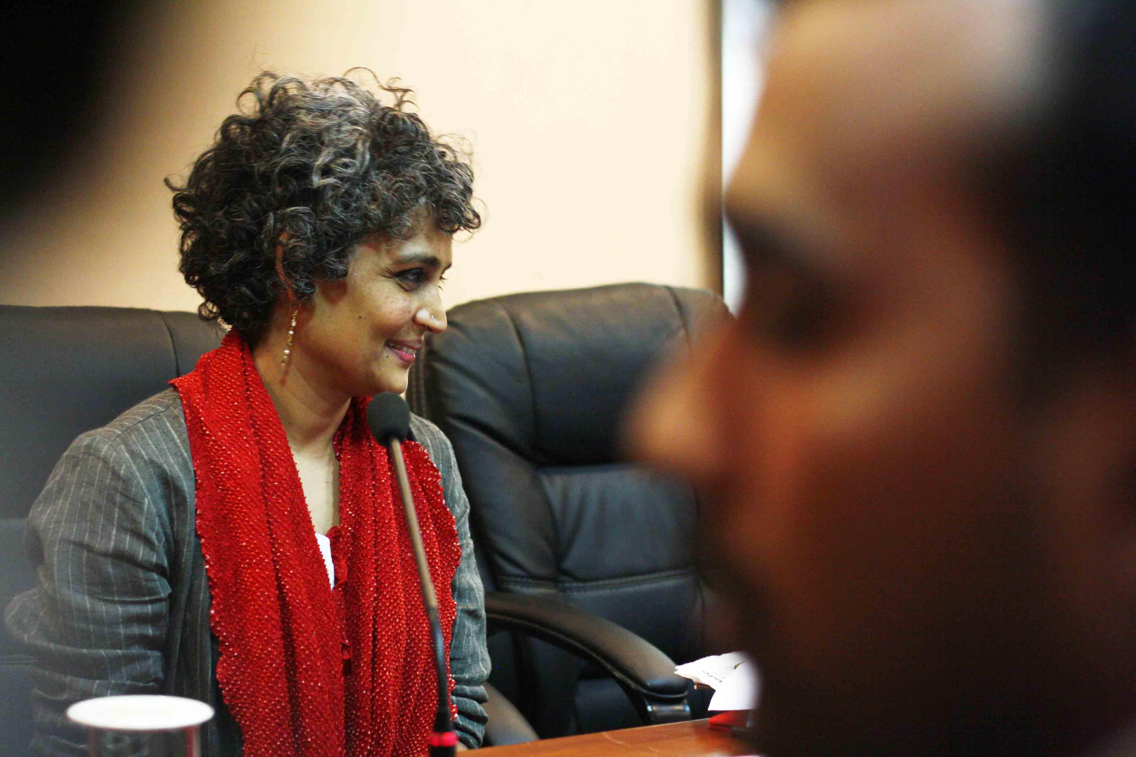 City Sighting – Arundhati Roy, Jamia Millia Islamia University