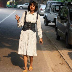 City Style - A Slender Woman in White, Harish Chander Mathur Lane