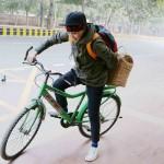 City Moment – BRT Cyclists, Bhishma Pitamah Road