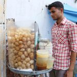 City Food - The Archaeology of the Pavement Golgappa Stall, Connaught Place