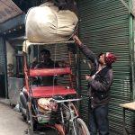City Moment - A Rickshaw Puller's Business Negotiations, Central Delhi