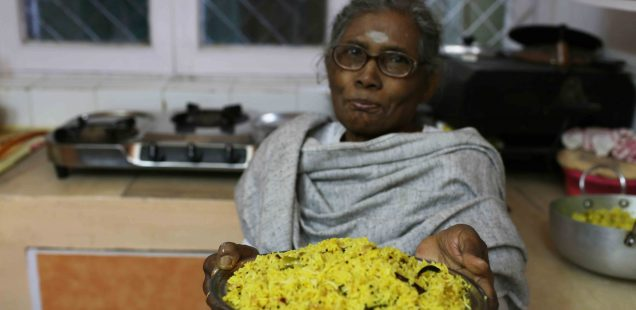 Julia Child in Delhi – Longtime Family Cook, Amma, Makes Her Narangi Rice, South Delhi