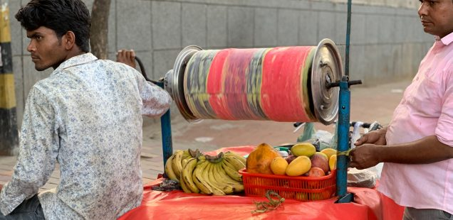City Food - Fresh fruit Roller Ice-Cream, Mathura Road