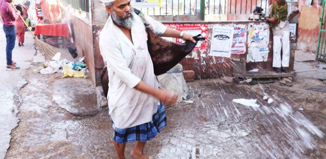 City Monument - Goatskin Mashaks, Old Delhi