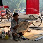 City Landmark - Barber Baldev Raj's Pavement Stall, Daryaganj