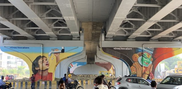 City Life - Mohan Nagar Flyover Art, Ghaziabad