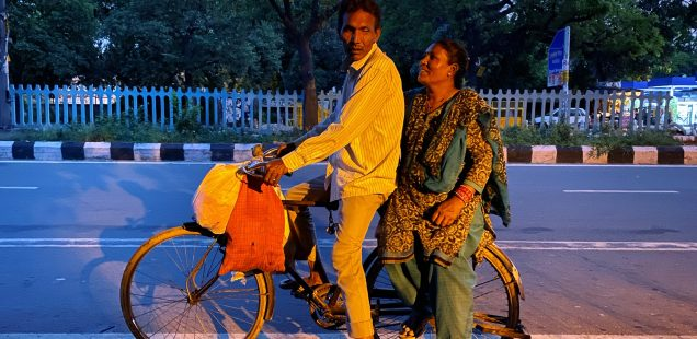 City Moment - Bicycle Couple, Central Delhi