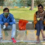 City Life - Two Painters, Kamala Nehru Park
