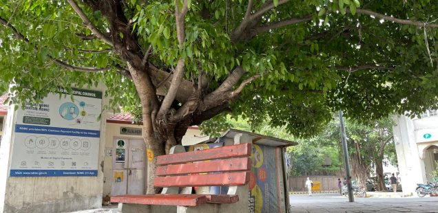 City Hangout - Bench by the Tree, Shivaji Bus Terminus